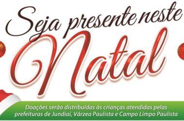 """Campanha """"Seja Presente Neste Natal"""" irá arrecadar brinquedos para crianças de Jundiaí, Várzea e Campo Limpo"""