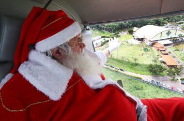 Papai Noel chega no Clube de Campo e encerra a Campanha de Natal