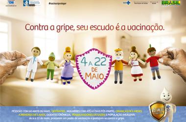 Campanha de Vacinação Contra a Gripe segue até dia 22 de maio