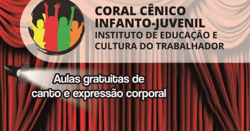 Com apoio do Sindicato, Educult abre inscrições para aulas de coral cênico