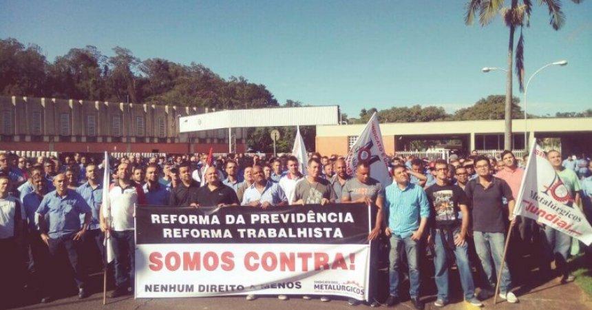 Metalúrgicos se mobilizam contra a reforma da Previdência