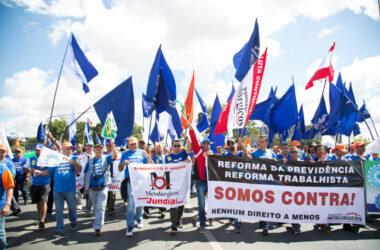 """Metalúrgicos em Brasília: """"O Brasil está unido para que não tirem nenhum direito do trabalhador"""""""