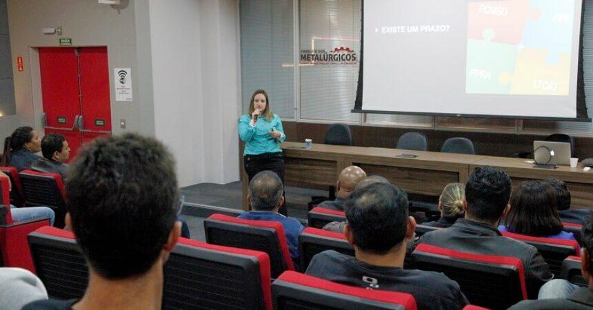 """""""Saúde e segurança do trabalhador"""" foi o tema de palestra na Semana do Metalúrgico"""