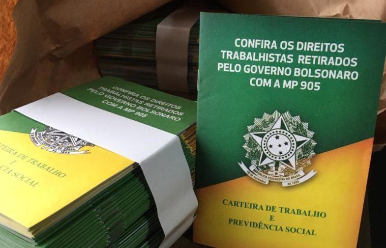 MP 905: sindicalistas distribuem cartilhas de conscientização aos trabalhadores