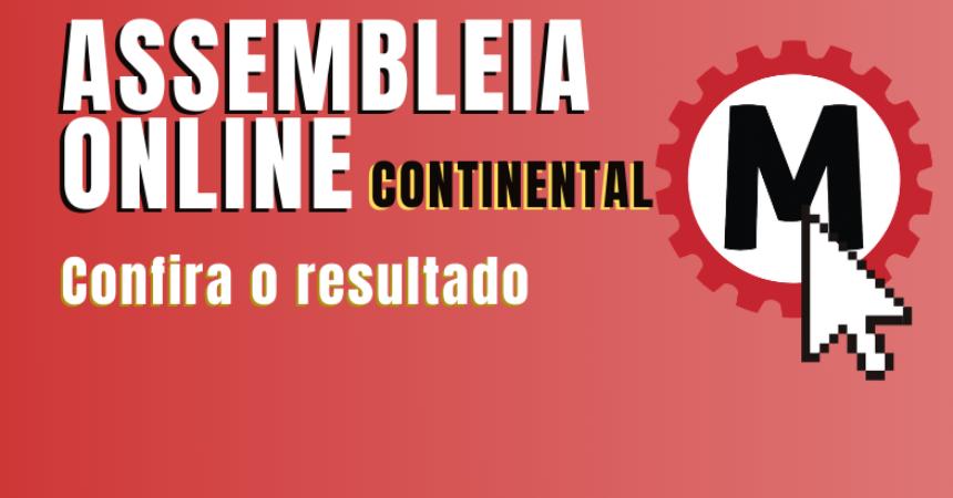 Continental: trabalhadores aprovam alterações no banco de horas